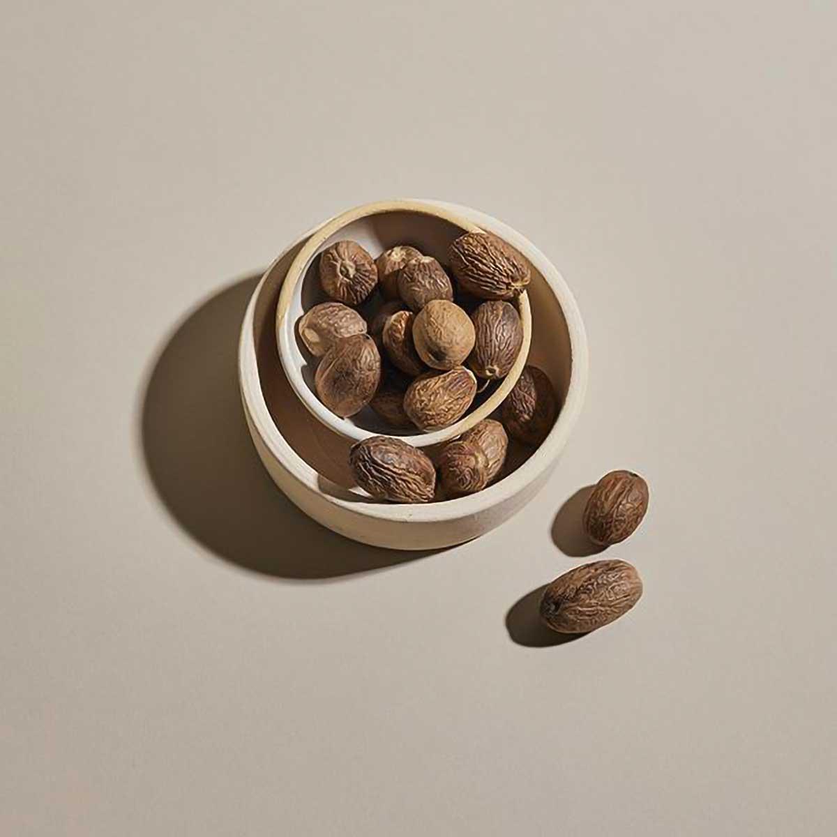 Whole Nutmeg in Dish