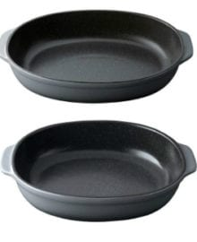 Gem Oval Stoneware Two-Piece Set