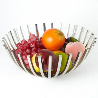 Beam Stainless Steel Basket filled with fruit.