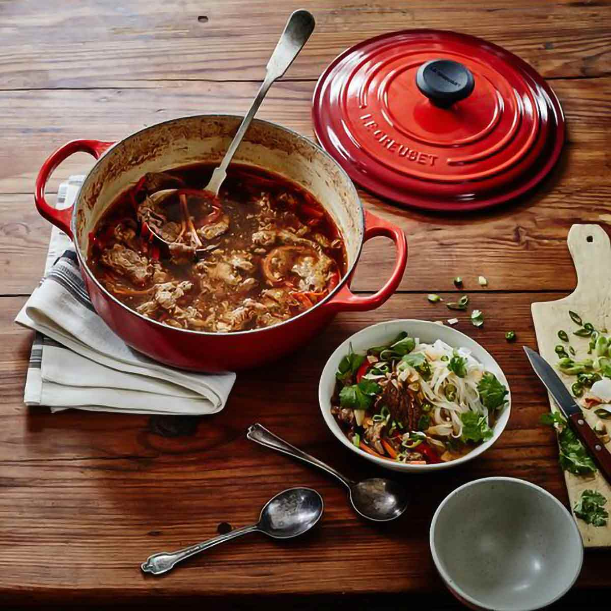 Le Creuset Sauteuse with Stew