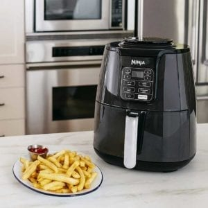 Ninja Air Fryer with plate of fries