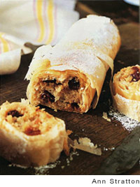 Apple-Cherry Cardamom Strudel