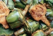 Artichoke Halves with Ground Meat
