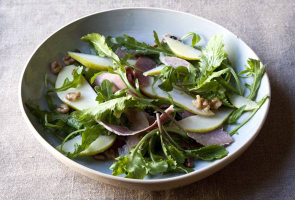 Arugula Salad with Ham