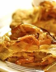 Buckwheat Crepe with Apple and Gruyere Cheese