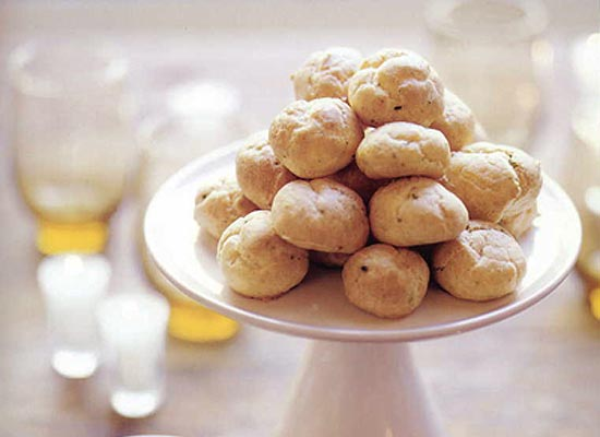 Cheddar-Chive Gougeres Recipe