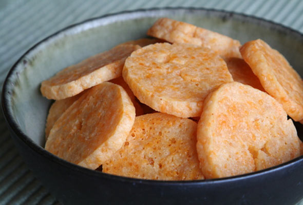 Cheddar Parmesan Crackers