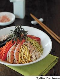 Chilled Crab and Shrimp Ramen Salad