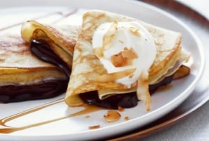 Chocolate-Coconut Crepes
