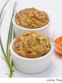 Crab Souffles with Caramelized Carrot Sauce