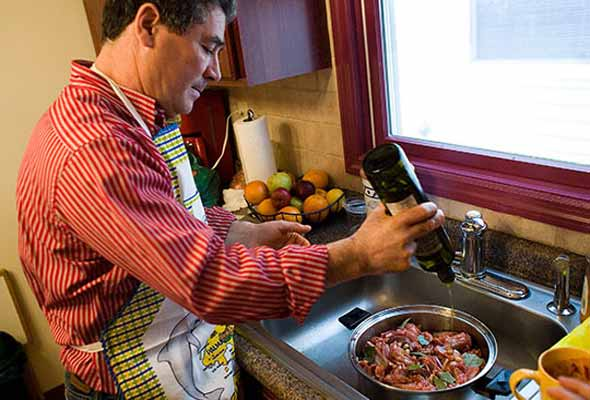 Frank Alexandre makes a Portuguese lamb stew