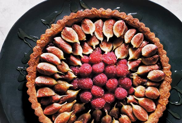Fresh Fig and Raspberry Tart