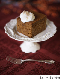 Fresh-Ginger Gingerbread with Soft Cream