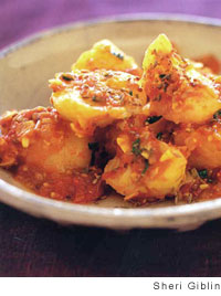 Gingered Tomato-Curry Potatoes