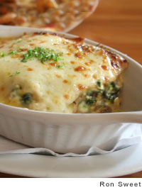 Portuguese Gratin of Shrimp and Spinach