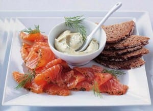 Gravadlax with Sweet Mustard and Dill Mayonnaise