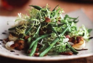 Haricots Verts with Frisee and Bacon