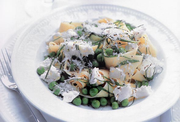 Lemon, Ricotta, and Pea Pasta