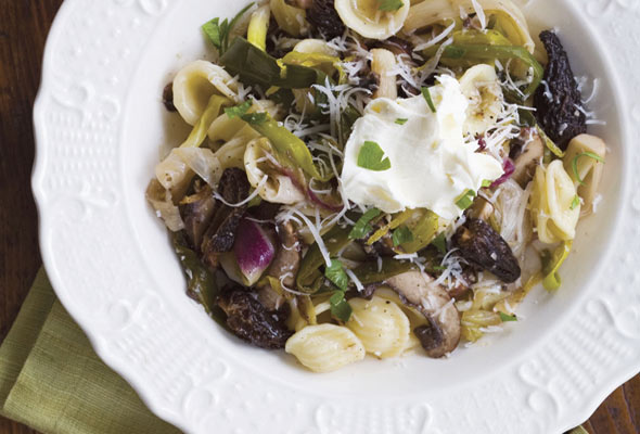 Orecchiette with Morel Mushrooms and Ramps