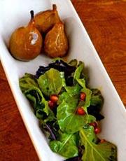 Roasted Pear and Arugula Salad