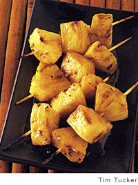 Pineapple Skewers with Brown Butter