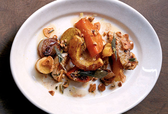 Roasted Root Vegetables with Marcona Almonds