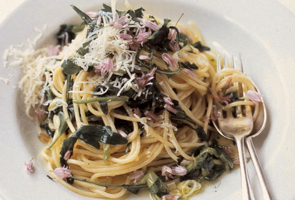 Spaghetti with Wild Garlic