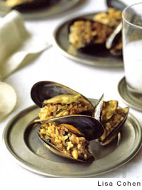 Istanbul-Style Mussels Stuffed with Rice, Pine Nuts, and Currants