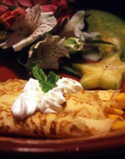 Tropical Fruit Crepes
