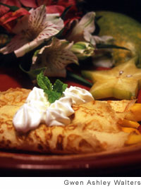Tropical Fruit Crepes Recipe