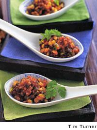 Truffled Lentil Spoons