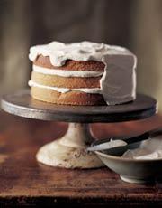 Three-Layer Walnut Torte with Whipped Cream